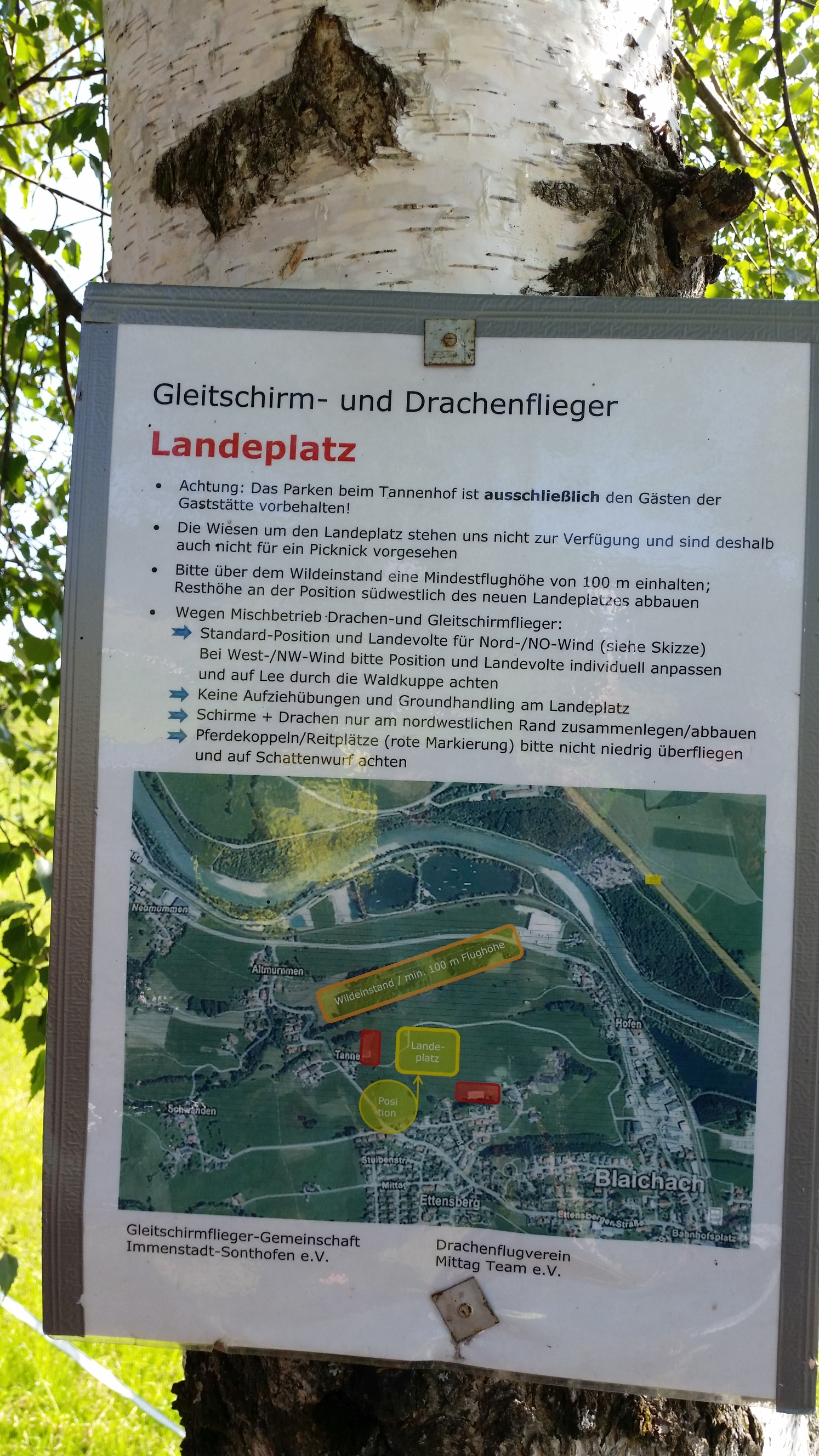 Landeplatz-Info am Mittag