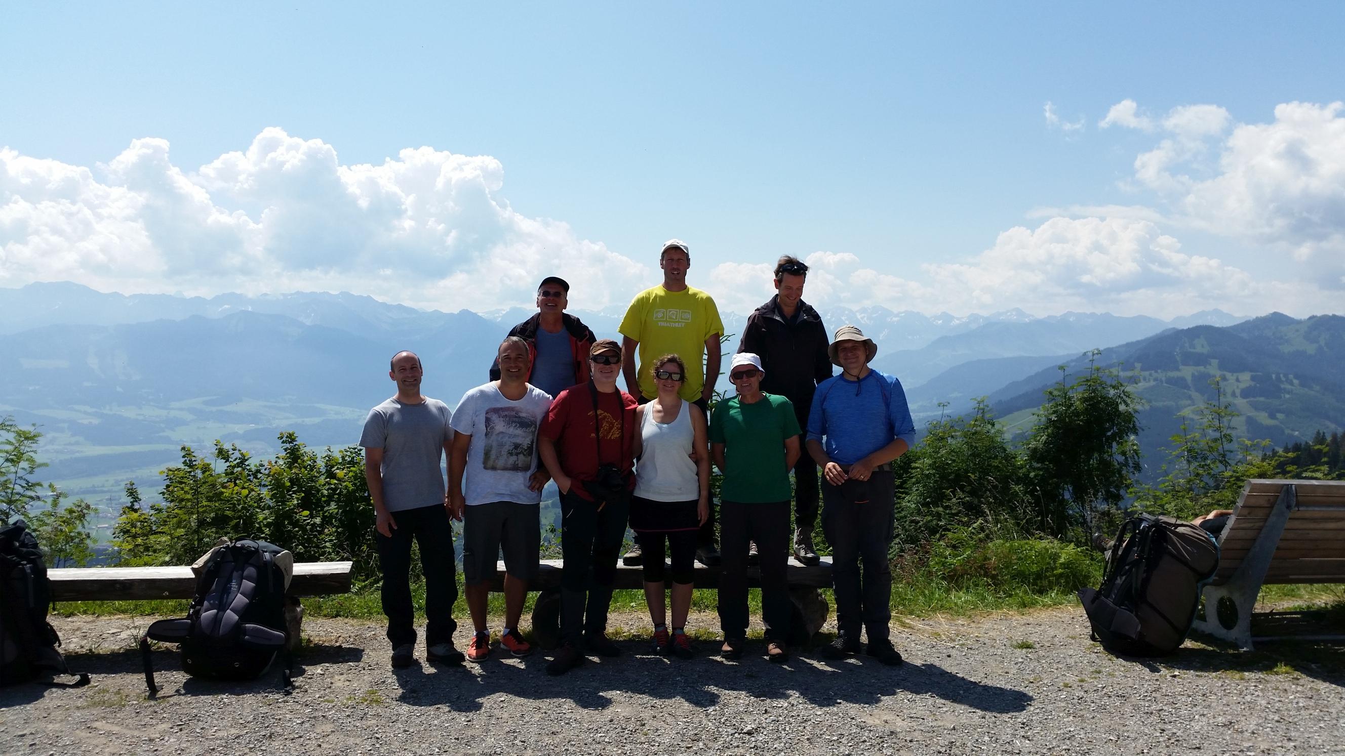 Gruppenfoto am Mittag