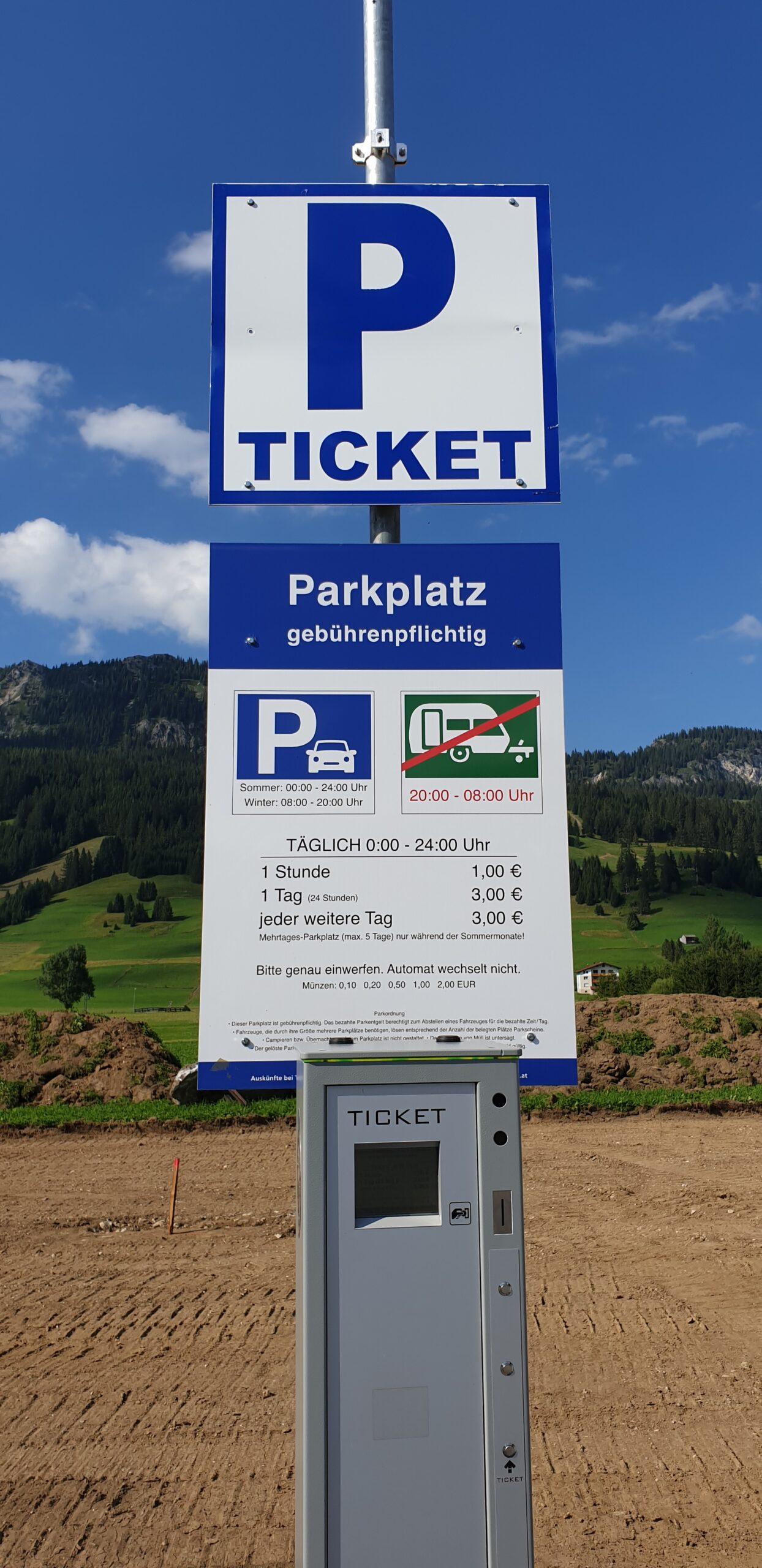 Parkgebühren Tannheim
