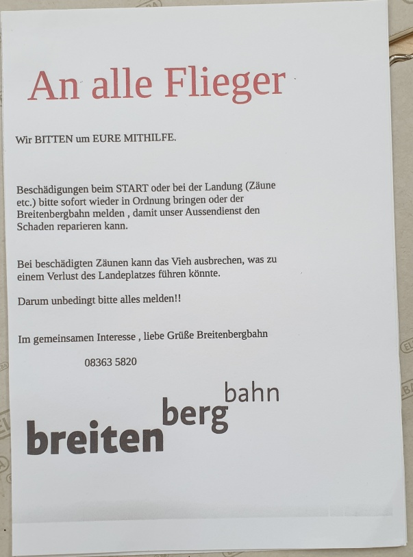 Hinweis Breitenberg
